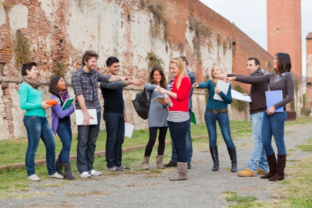 Female Student get Mobbed by the Group Stock Photo - 15393084