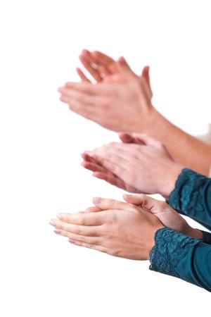 remise de prix: Hands Clapping l'homme Banque d'images