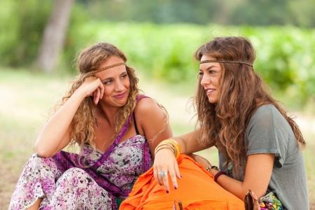 hippy: Hippie Women Portrait