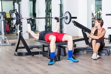 Young Couple at Gym Stock Photo - 15711718
