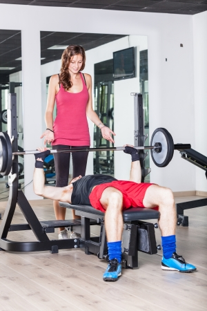 strong arm: Young Couple at Gym