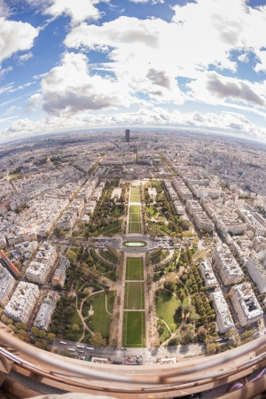 Panoramic View from the Tour Eiffel in Paris photo