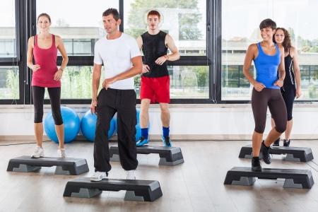 aerobics class: Aerobics Class in a Gym