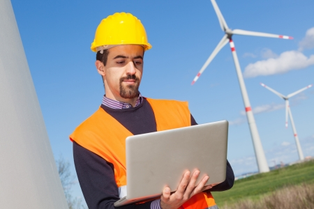 energy conservation: Technician Engineer in Wind Turbine Power Generator Station