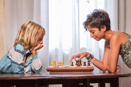 Children Playing Chess photo