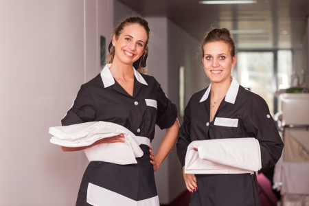 Two Chambermaid in Hotel photo