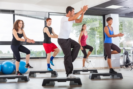 aerobic training: Aerobics Class in a Gym