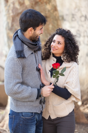 Happy Young Couple on Valentine's Day photo