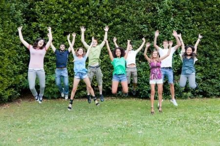 Multiethnic Group of Teenagers photo