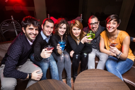 Group of Friends in a Night Club Stock Photo - 18381351