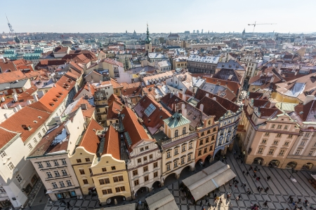 Panoramic View of Prague from Town Hall Tower photo