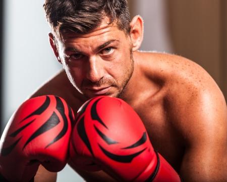 kickboxing: Boxer in the Locker Room
