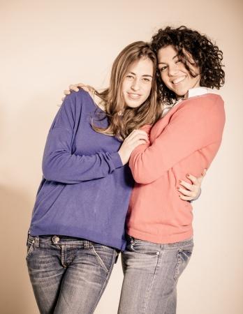 lesbianas: Dos mujeres hermosas Together Foto de archivo