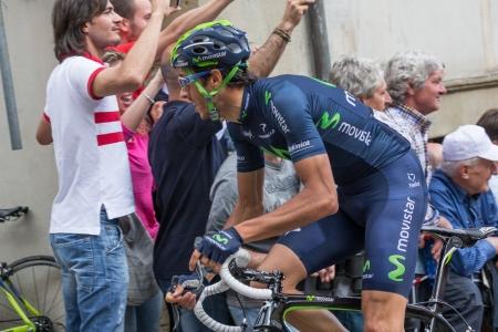 eros: ANGHIARI, ITALY - MAY 12: Eros Capecchi, Team Movistar, during the 9th stage of 2013 Giro dItalia on May 12, 2013 in Anghiari, Italy Editorial