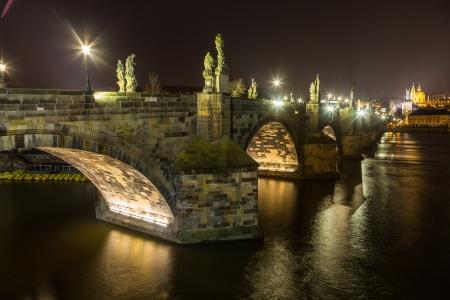 Charles Bridge in Prague at Night photo