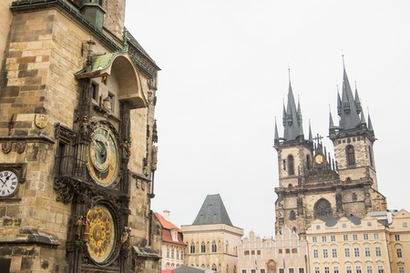 tyn: Atronomical Clock and Our Lady Before Tyn Church in Prague