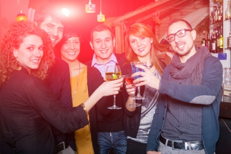 people partying: Group of Friends in a Night Club
