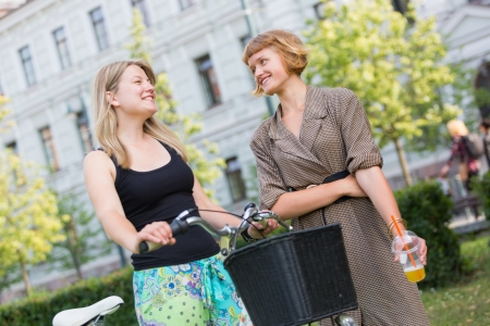 lithuanian: Two Young Women at Park