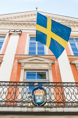 sweden flag: Swedish Embassy in Tallinn