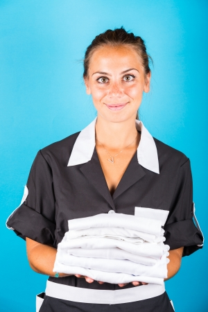 housemaid: Housemaid Portrait Stock Photo