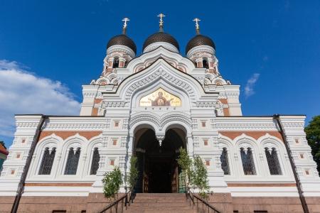 alexander: Alexander Nevsky Orthodox Cathedral in Tallinn Stock Photo