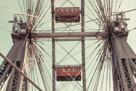 carrousel: Wiener Riesenrad, Famous Ferris Wheel in Wien