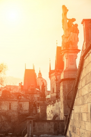 Charles Bridge and Old Town in Prague photo
