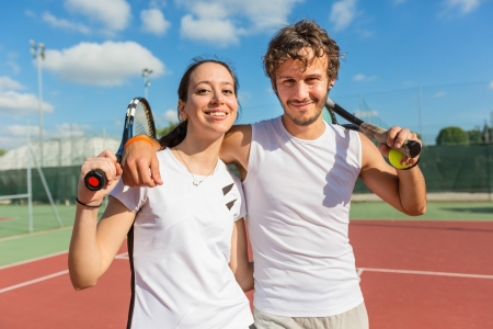 Two Happy Tennis Players photo