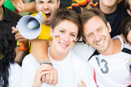 supporters: German Supporters at Stadium