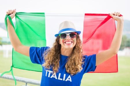 Italian Girl Supporter at Stadium