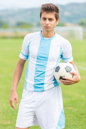Soccer Player with Ball photo