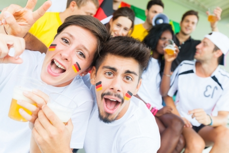 cheering crowd: German Supporters at Stadium