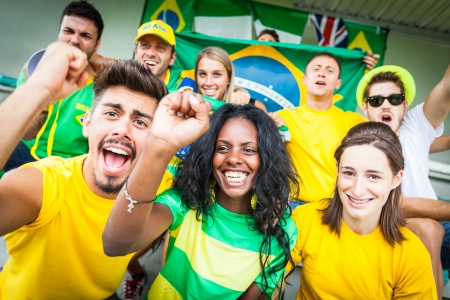 supporters: Brasilian Supporters at Stadium