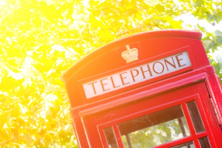 phonebooth: Traditional Red Phone Booth in London Stock Photo