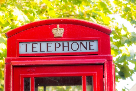 Traditional Red Phone Booth in London photo