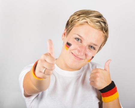 Happy German Supporter Stock Photo