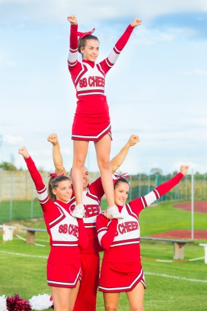 Group of Cheerleaders in the Field Editorial