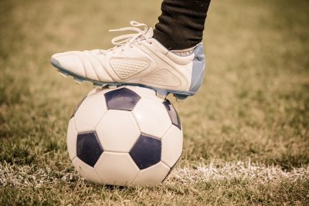 football shoes: Soccer Ball and Player Foot