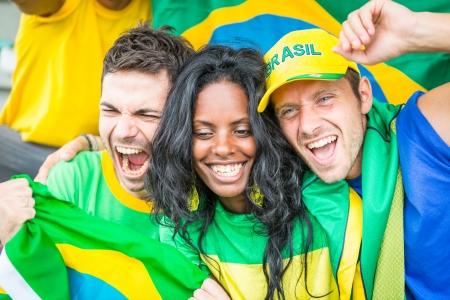 Brazilian Supporters at Stadium
