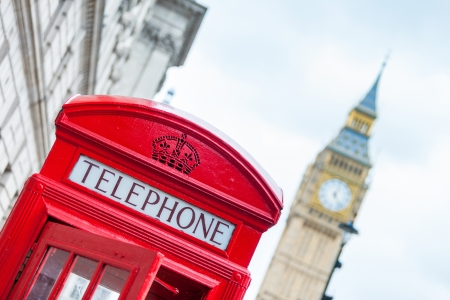 phonebooth: Red Phone Booth in London Stock Photo