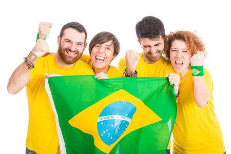 ブラジルのサポーターのグループ