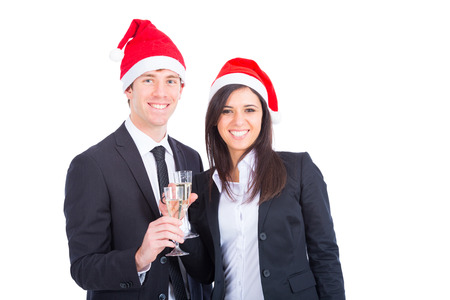 Business Team Toasting for Christmas photo