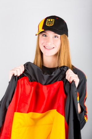 Young German Female Supporter photo