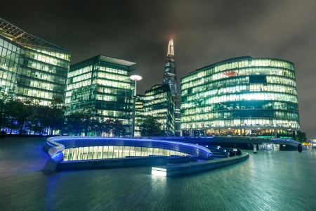 Modern Buildings and The Shard in London photo