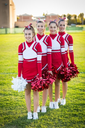 Group of Cheerleaders in the Field photo