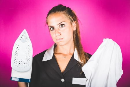 housemaid: Funny Housemaid with the Iron