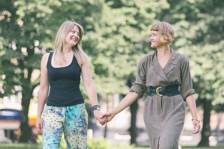 beautiful lesbian: Two Russian Girls at Park