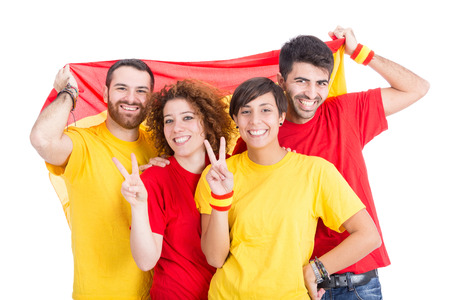 supporters: Spain Supporters on White Background