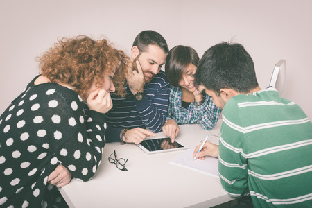 Group of Friends Studying photo