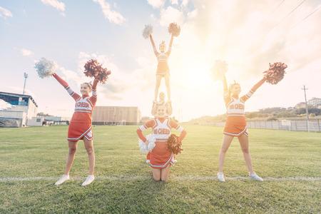 Group of Cheerleaders in the Field photo